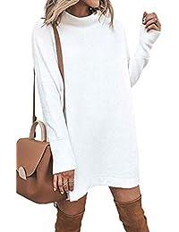 Damen Pulli Pullover Rock Longshirt Kleider Frühling Herbst Winterkleider  Hemd Kleid Langarm Mode Lose Sweatkleid Sweatshirt 74915238b6