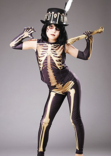 Kostüm Voodoo Mädchen - Magic Box Int. Kinder Halloween Voodoo Mädchen Skelett Kostüm Large 8-10 Years