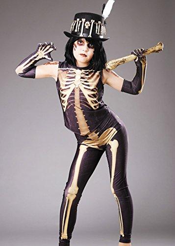 Magic Box Int. Kinder Halloween Voodoo Mädchen Skelett Kostüm Large 8-10 Years