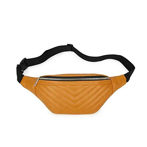 CMUKHI Waist PackWomen's Fashion Waterproof Ladies Belly Bag Travel Sports Pockets Personalized Docking Bag 5 Colors Pu PocketsA4 Travel Docking