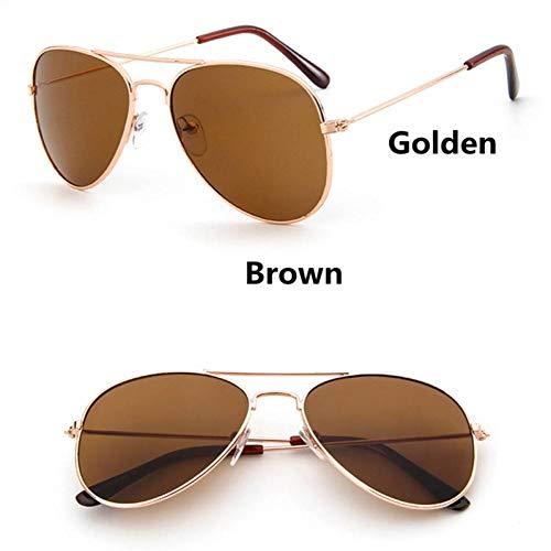 GAOHAITAO Fashion Kids Aviator Sunglasses Kids Boys Girls Design Silver Frame Blue Lens Pilot Sun Glasses for Children,Style 4