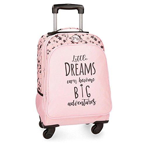Roll Road Dreams Pink Mochila Escolar, 44 cm, 29.57 litros, Rosa