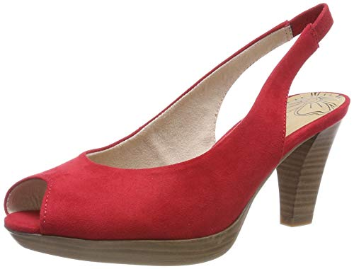 MARCO TOZZI Damen 2-2-29602-22 Peeptoe Pumps, Rot (Red 500), 39 EU