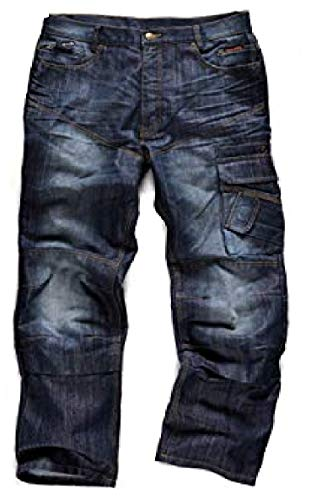 Scruffs Trade Denim, Jeans Uomo, Blu, M