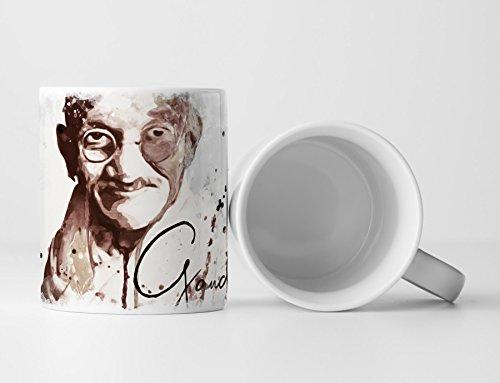 Mohandas Gandhi Tasse als Geschenk, Design Sinus Art