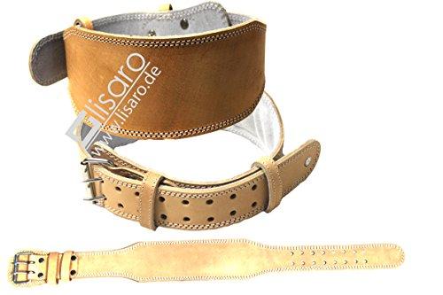 Lisaro Gewichthebergürtel aus Leder braun