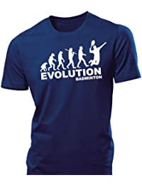 iClobber Badminton Evolution Men's T Shirt funny tshirt Racket shuttle cocks wilson