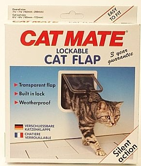 Rosewood Katzenklappe Pet Mate 2-Wegeverschluß weiß