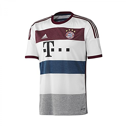 adidas FC Bayern München Away Trikot 2014/2015 140 White/Mid Grey/Collegiate Burgundy/Tribe Blue