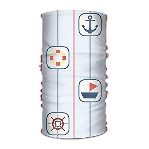 Jolly2T Ship Sighting And Steering Wheel Bandanna Headwear Neck Gaiters Variety Scarf Wrap - Grecian Wrap