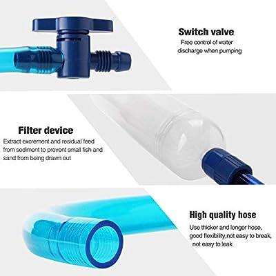 Aquarium Reiniger, Easylifer Wasserpumpe Aquarium Siphon Mulmglocke Angeltankreiniger Bodenreiniger für Aquarien