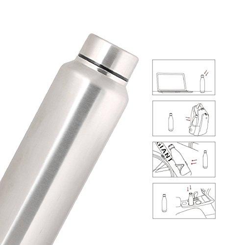 Zafos Chromo S.S Steel 1000ml (Set of-2) - Fridge Water Bottle. Leak Proof for Gym, Sports & Office & School