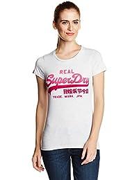 Superdry Damen T-Shirt Grau Grau