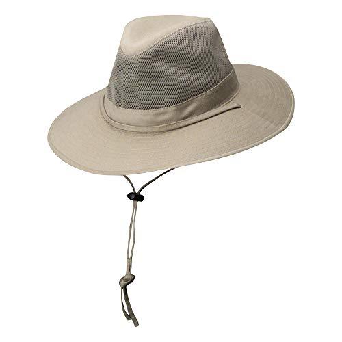 18225164ef8303 DPC Outdoors Solarweave Treated Cotton Hat, Camel, Large