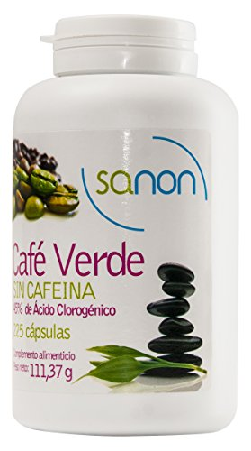 SANON Café Verde sin Cafeína 225 cápsulas de 495 mg