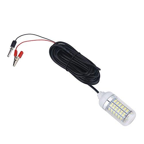 Dioche pesca lampada LED, 12V LED Lampada luce notturna barca pesca subacquea, bianco
