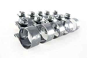 TR w1mhoseclip Clips 14-16Mm Plaqué Zinc Pour Mini Tuyau Durite Carburant X10