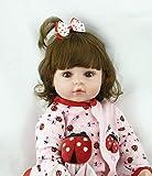 ZIYIUI 18 Pollici 47 cm Reborn Doll Bambolina rinata Bambola del Bambino Bambola in Vinile siliconico Bambola Reborn Femmina Giulia