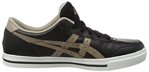 Asics Unisex-Erwachsene Aaron Sneaker Schwarz (Black/Taupe Grey)