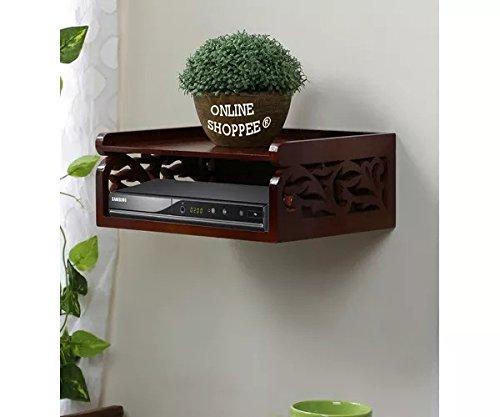 Onlineshoppee Beautiful Set Top Box Wall Shelf (Brown)