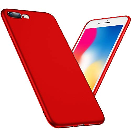 Joyguard iPhone 7 Plus Hülle, iPhone 8 Plus Hülle, Soft Flexibel Silikon iPhone 7 Plus/8 Plus Handyhülle Ultra - Dünn Anti-Rutsch Stoßdämpfend iPhone 7 Plus Hülle Rot - 5.5 Zoll - Rot