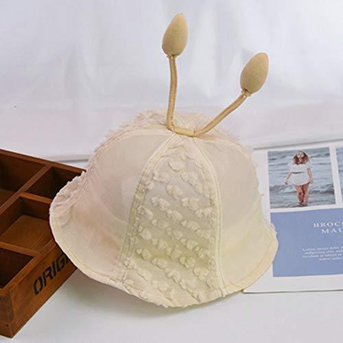 Baby Sommer Hut, Sonnenhut für Kinder mit UV-Schutz mit Joker Spitze atmungsaktiv Sonnenschutz Kind Fischer Hut für Männer und Frauen Baby Reisen coolen Hut,Beige