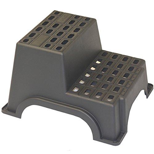 Preisvergleich Produktbild Siehe Beschreibung MGI Trittstufe für Wohnwagen 2-stufig bis zu 200kg Maximalgewicht,  61x52x37cm: Trittleiter Einstieg Stufe Wohnmobil Treppe Doppel