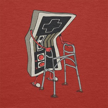 TEXLAB - Old Controller - Herren T-Shirt Rot