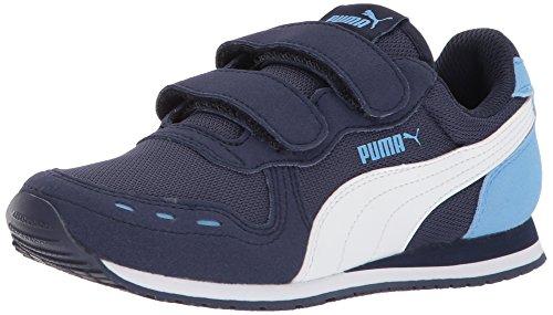 Puma - Kinder Cabana Racer Mesh V Inf Schuhe, 27 EU, Peacoat/Puma White/Little Boy Blue