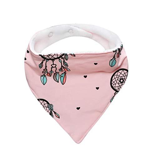 KOKOUK Waterproof Bibs, Cute Baby Kids Cotton Bandana Bibs Feeding Triangle Saliva Towel Dribble Towel Triangle Waterproof (Pink) Camouflage-baby-bib