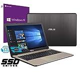 Notebook Asus Vivobook Portatile Pc Display da 15.6' Cpu Intel i3-7020U 2,3ghz /Ram 4Gb DDR4 /SSD 240GB /HD Graphics 620 /Hdmi Masterizzatore Wifi Bluetooth /Windows 10 professional + open office free