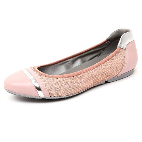 B4770 ballerina donna HOGAN WRAP 144 scarpa rosa paillettes shoe woman [38]