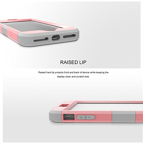 iPhone Case Cover Pour iPhone 7 Plus Séparable couleur de contraste PC + Silicone Combination Case ( Color : Purple ) Pink