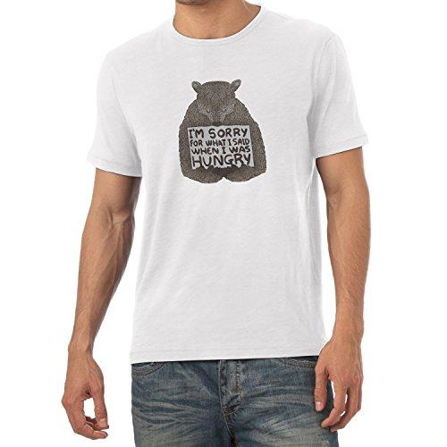 NERDO - I'm sorry for what I said when I was hungry - Herren T-Shirt Weiß