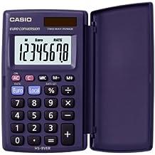 CASIO HS-8VER Taschenrechner 8-stellig mit 360° umschlagbarer Schutzklappe, Solar-/Batteriebetrieb