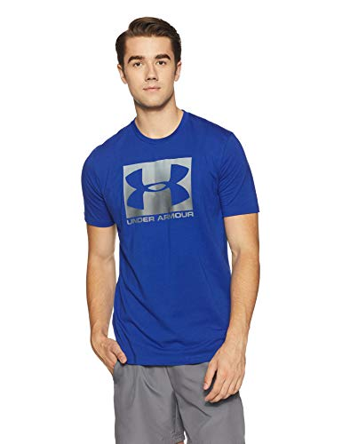 Under Armour Men's Plain Loose Fit T-Shirt (1305660-400_Royal_Medium)