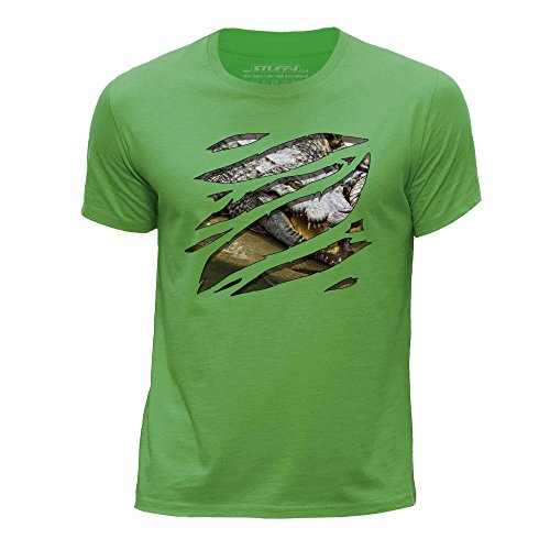 stuff4-boys-age-7-8-122-128cm-green-round-neck-t-shirt-large-rip-crocodile-zoo-animal