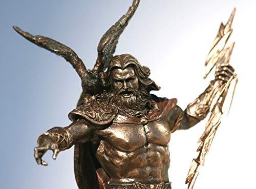 Unbekannt Veronese Statue griechischer König Zeus Jupiter Donner Bronzefigur 22,9 cm (Jupiter-statue)