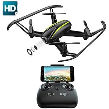 Potensic Drone avec caméra HD, U36W RC drone 720P caméra Un bouton pour le décollage et l'atterrissage, mode Sans Tête, mode de Restez-Altitude, Fantastiqu Super Grand Angle à 120 degrés