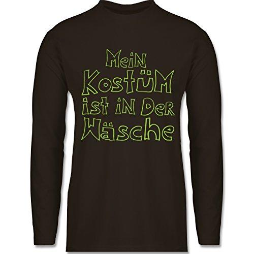 Shirtracer Karneval & Fasching - Mein Kostüm ist in der Wäsche - Herren Langarmshirt Braun