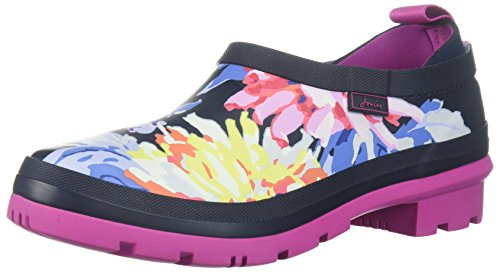 Joules Women's Popons Rain Shoe, Navy Whitstable Floral, 7 B(M) US
