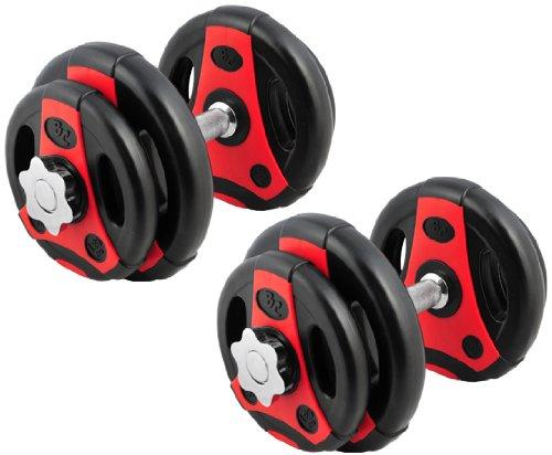 Bad Company | K-Grip Kurzhantel Pump Set | Hantelset mit Kurzhantelstangen und Gewichten | 20 Kg