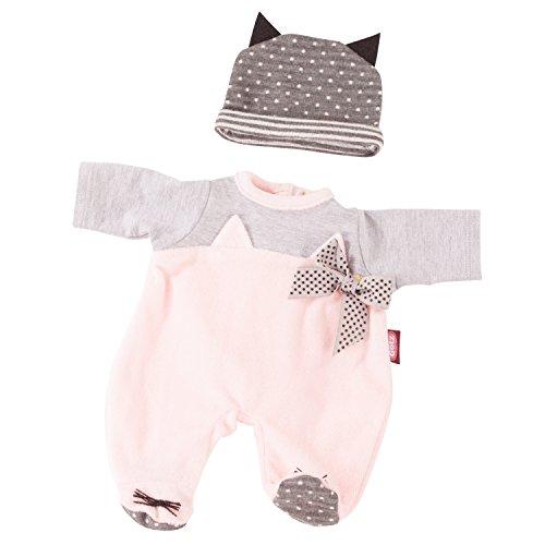 Götz 3402838 Kombination Cosy Cat - Puppenbekleidung Gr. M - 2-teiliges Bekleidungs- und Zubehörset für Babypuppen von 42 - 46 cm