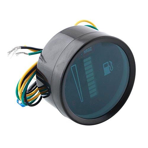 """CXZX Autokraftstoffanzeige, Kraftstoffanzeige Digitalanzeige mit LED DC12V-Anzeige 2""""für Motorrad, Universal 52mm-Ebene"""