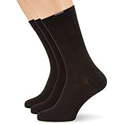 Nur Der - Calcetines opacas para hombre, pack de 3, talla 43-46, color negro 940