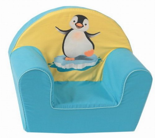 knorr-baby 490181 Kindersessel Pinguin, gelb-blau