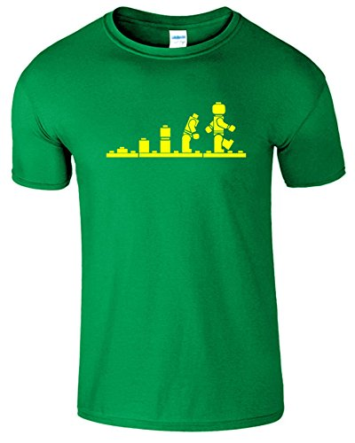 Evolution Legolution Herren Lustige Kurzarm Fancy T-Shirt Irish Grün