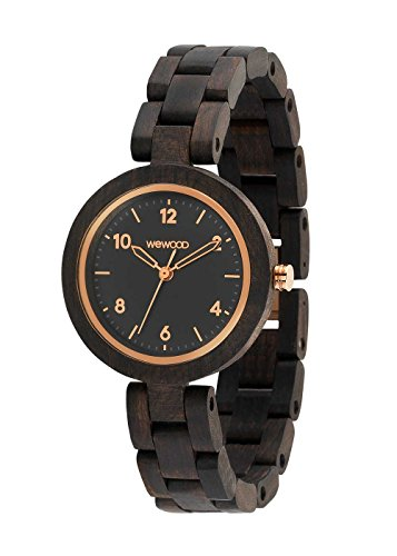 WEWOOD Daphne Black Rough Rose - Orologio donna