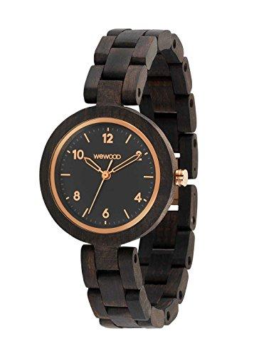 WEWOOD Daphne Black Rough Rose - Reloj de mujer