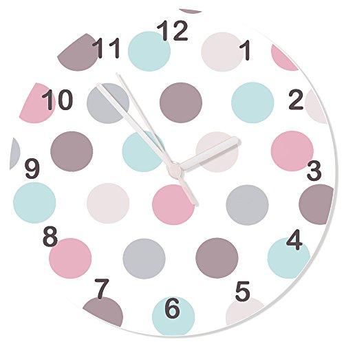 & grau Uhr, pastell Uhr, Silent Uhr, Kinder Uhren, Mädchen Zimmer Uhr, Wanduhr (Die Kinder Lernen Zu Sagen, Zeit, Uhr)